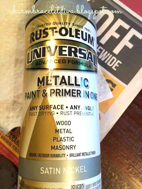 metallic spray paint satin nickel