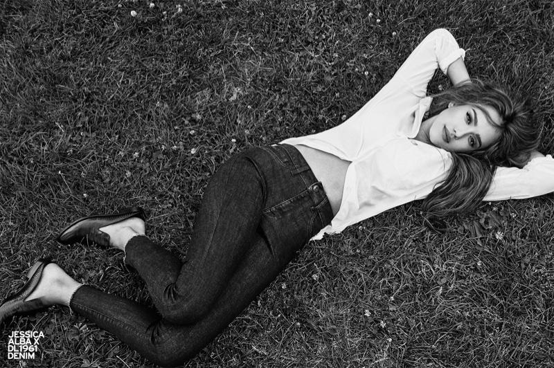 DL1961 x Jessica Alba No. 2 Trimtone Skinny Jean Ankle in Sunrise