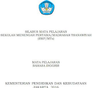 Silabus Bahasa Inggris SMP/MTs Kelas 7, 8 dan 9 Kurikulum 2013 Revisi Terbaru