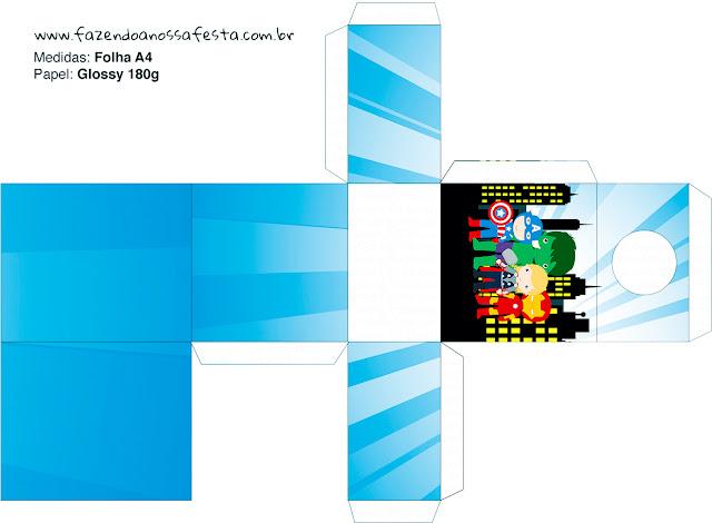 Caja para pintura de uñas Los Vengadores Chibi para imprimi