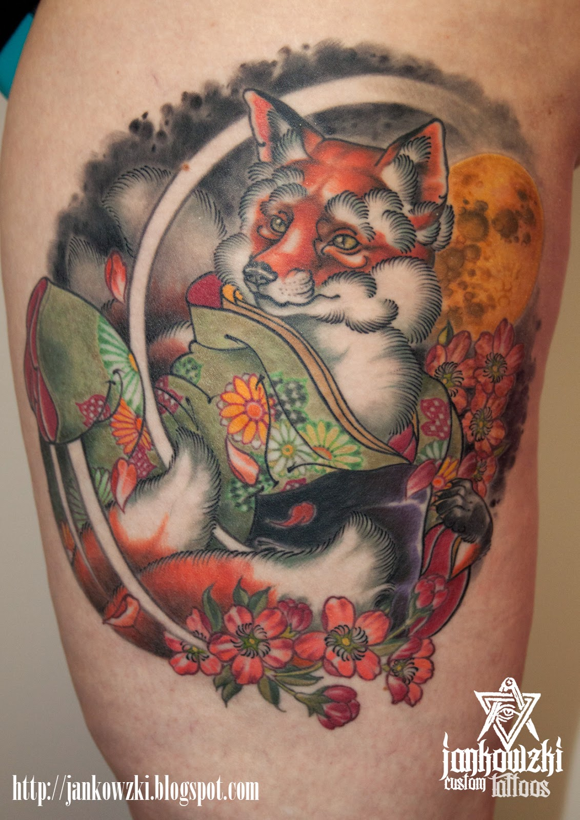 Traditional Kitsune Tattoo: Jankowzki Custom Tattoos: Oriental Tattoos