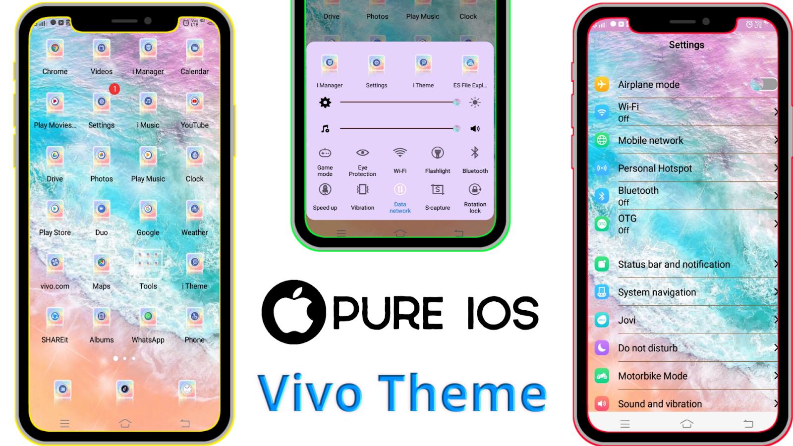 Vivo Theme : Pure IOS 12 Theme for All Vivo Smartphones || New Theme