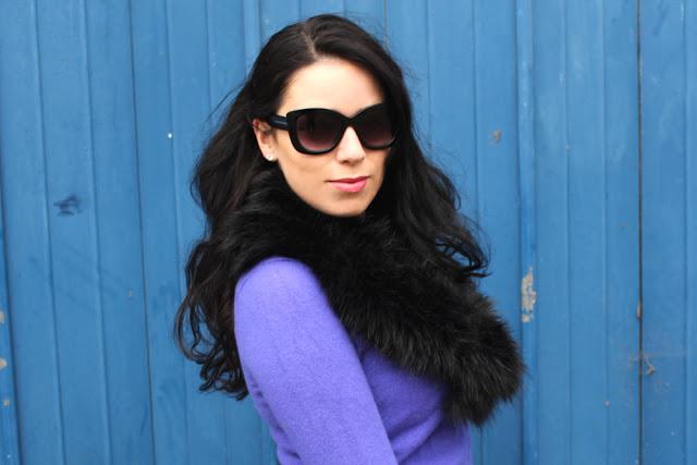 Cashmere and sunglasses - London fashion blogger Emma Louise Layla