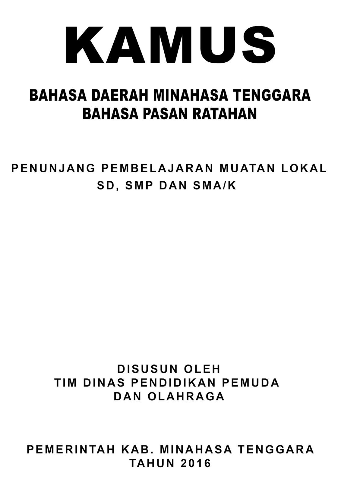 Bahasa Daerah (PASAN) Ratahan, Minahasa Tenggara. kata dasar