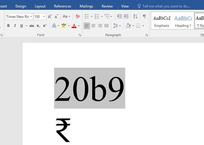 Learn New Things Easy Shortcut Key To Insert Indian Rupees Symbol