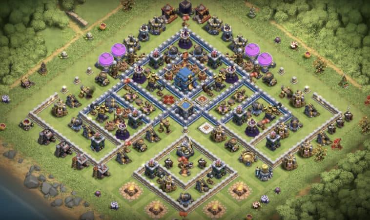 TH12 War Base & Trophy Farming Base Layouts | TEC Clashzz