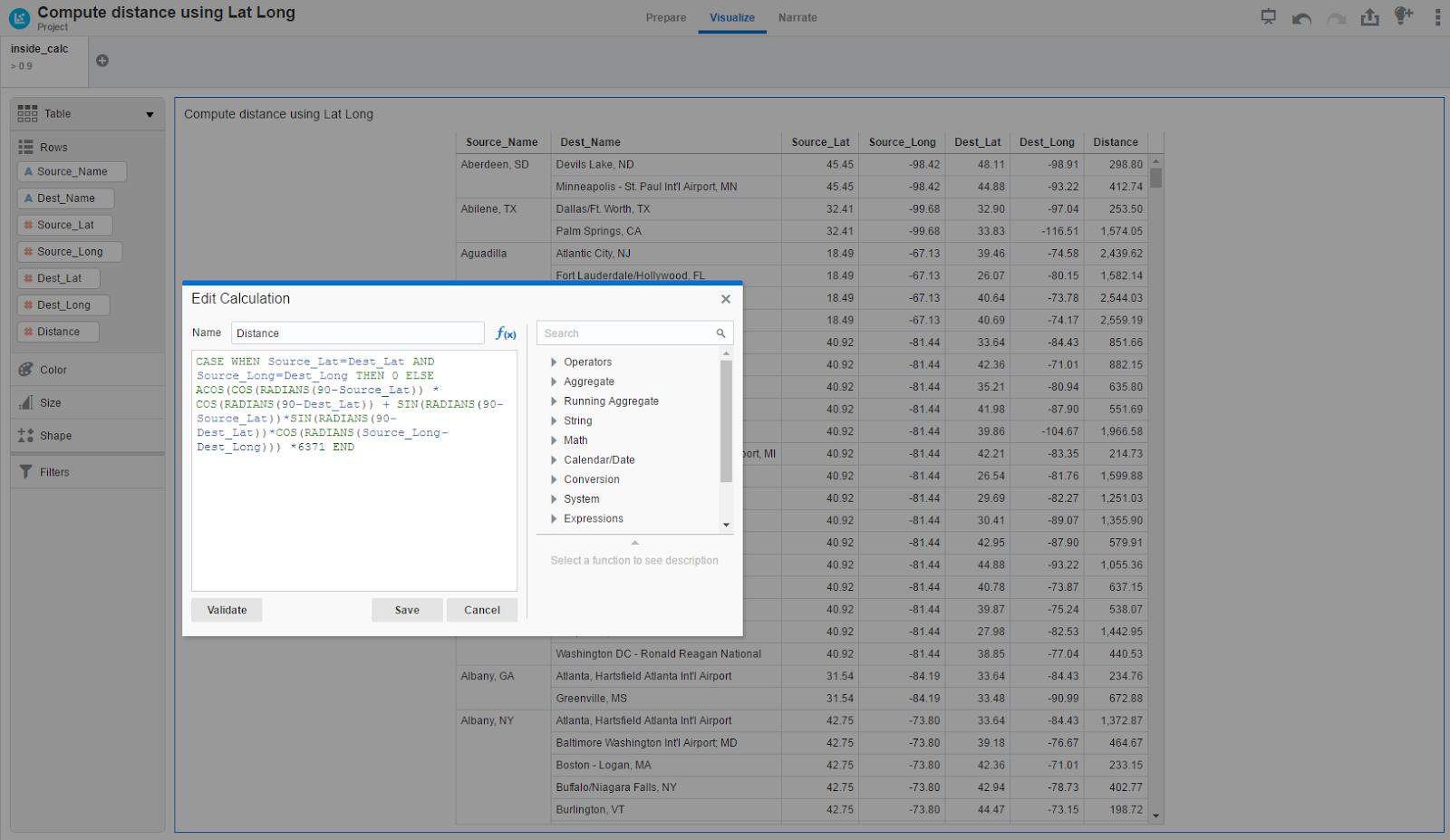 Oracle Underground BI & Dataviz: OracleDV : Calculating