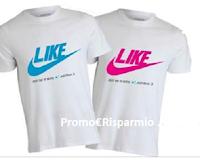 Logo Condividi e vinci gratis la t-shirt ''Like''
