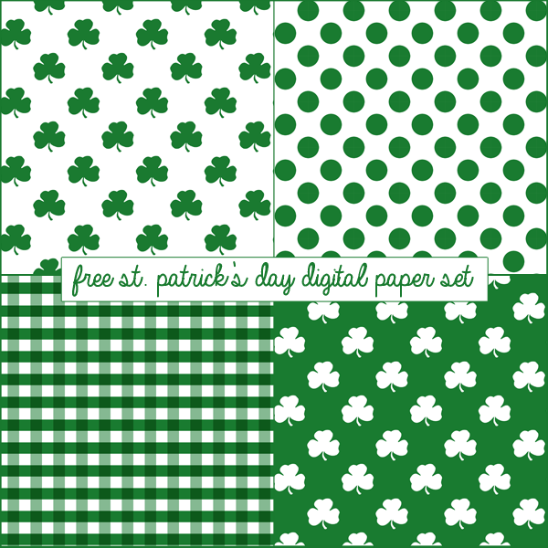Free St. Patrick's Day Digital Paper