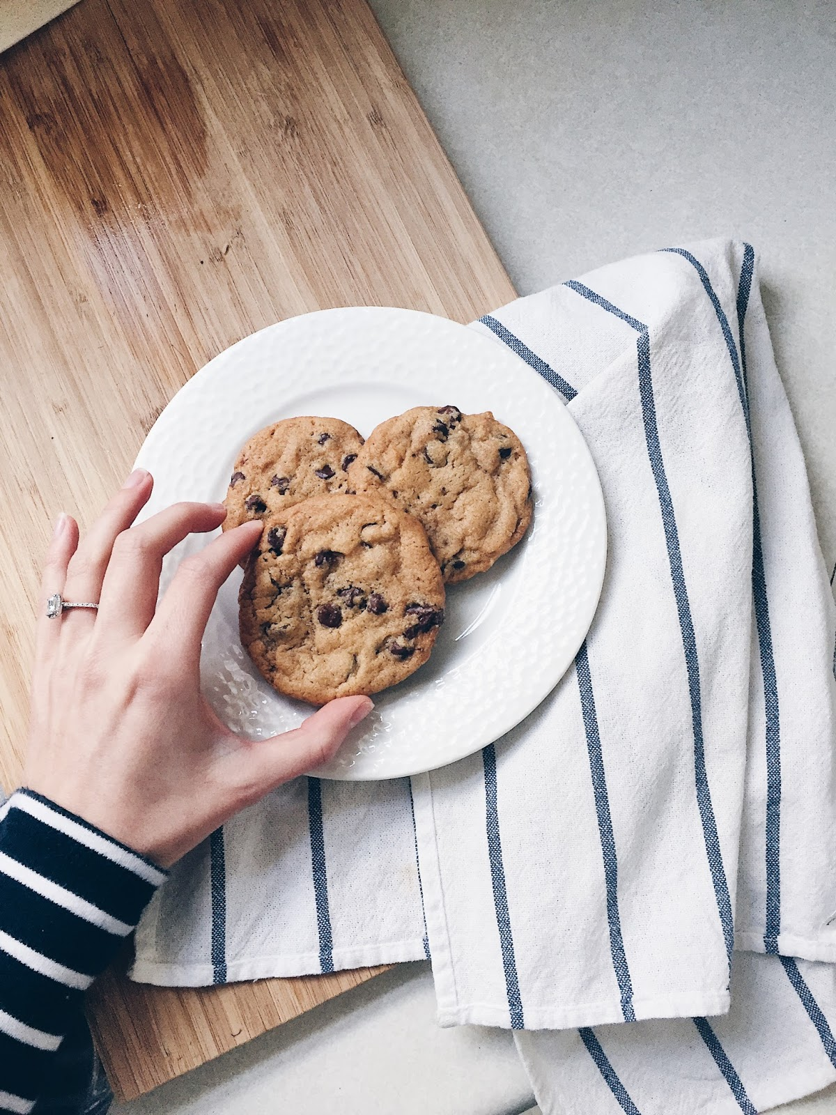 delicious chocolate chip cookies, food photography