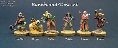 Bohaterowie Runebound: Piaski Al-Kalim