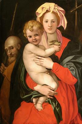 Według Angela Bronzina, Święta Rodzina (fragment), Zamek Królewski w Warszawie- Muzeum. Fot. A. Ring, L. Sandzewicz.