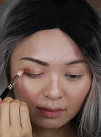 Apply #puree color to the crease and get rid the harsh line