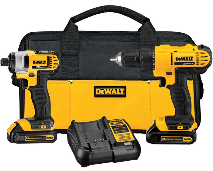 DeWalt drill/driver and impact combo kit