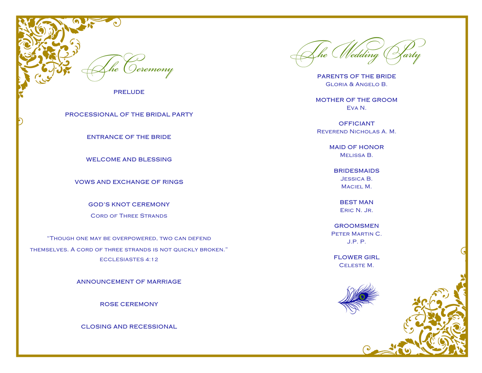 Event Program Templates Printable Pictures to Pin – Event Program Template