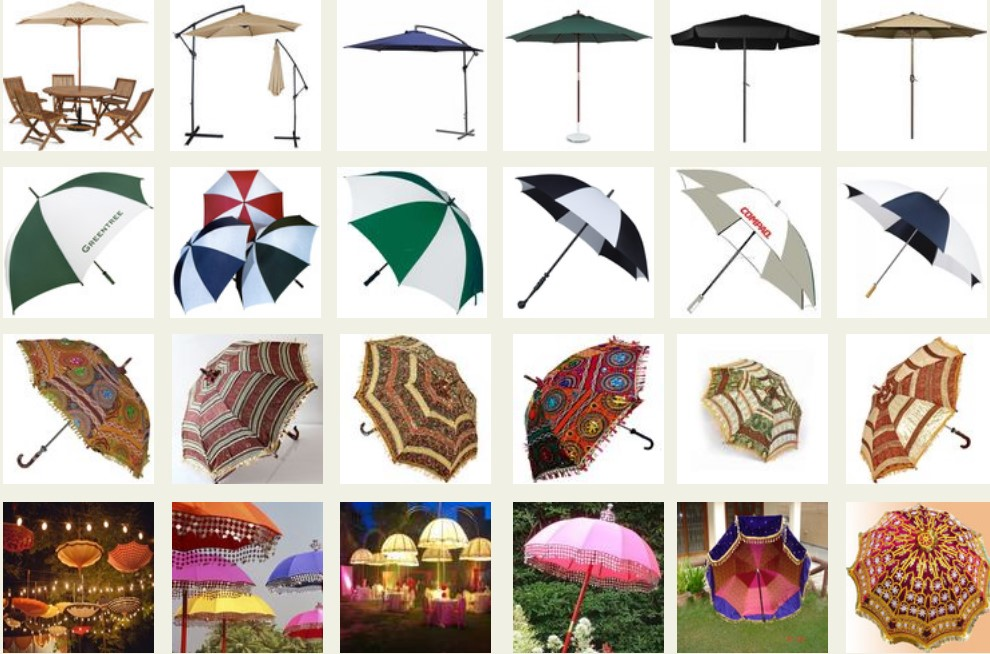 Decorative Umbrellas For Indian Wedding, Umbrella Decoration Craft, Supply All Over India & Abroad