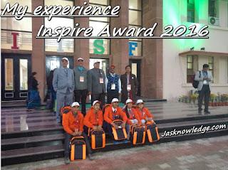 my experience: National Level Inspire Award 2016