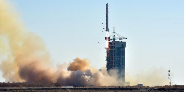 A Long March 2D launches at 04:14 UTC on Dec. 23, 2017, from the Jiuquan Satellite Launch Center in the Gobi desert, northwest China's Gansu Province. Photo Credit: Zhen Zhe / Xinhua