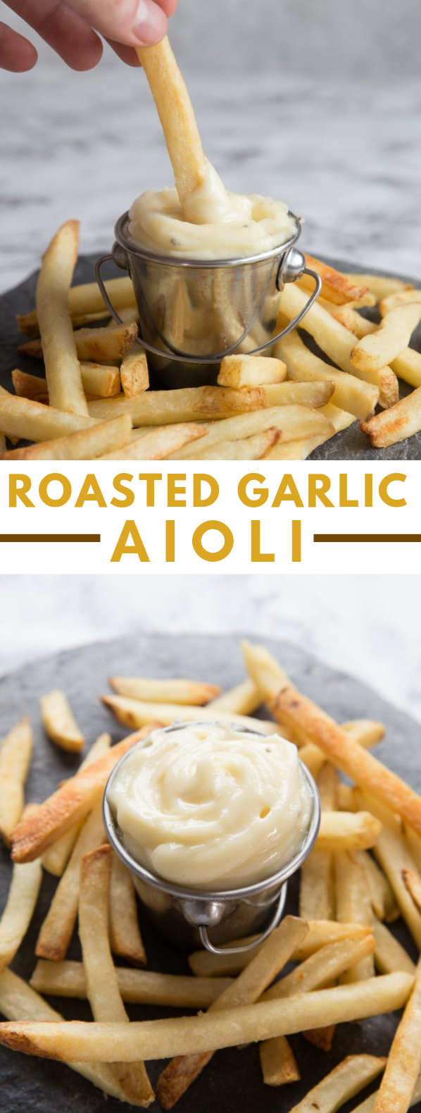 Roasted Garlic Aioli #vegetarian #homemade