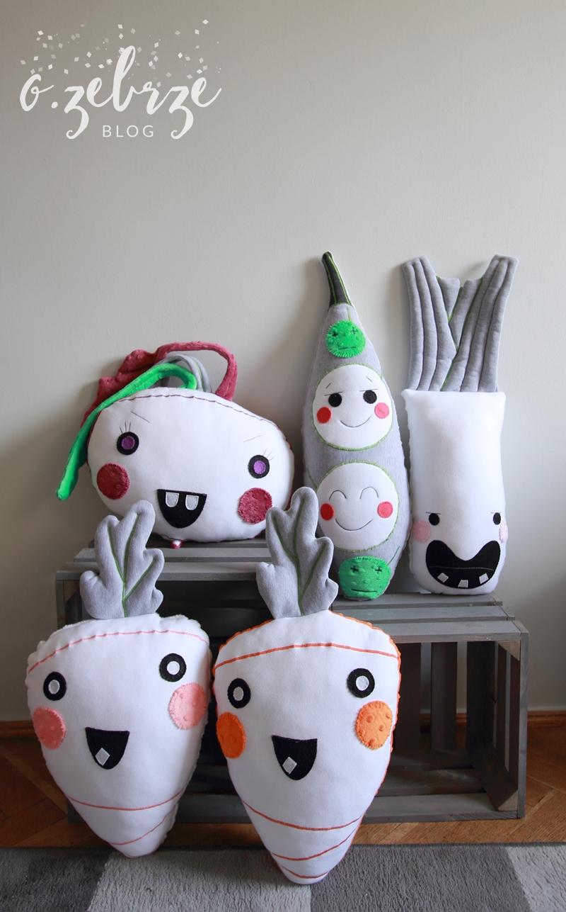 poduszki dziecięce, poduszki warzywa
