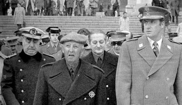Franco y Juan Carlos en el Valle de los Caídos