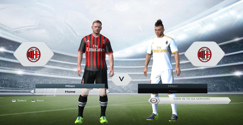 Milan 2016 17 revealed kit for fifa 15 fifa modders for Fifa 17 milan
