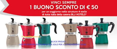 Logo Black Friday Bialetti: 20% di sconto su tutti i prodotti e poi ''Vai in vacanza con Bialetti''