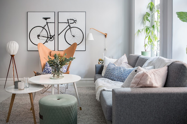 Accente pastelate pentru un plus de gingășie într-un apartament de 70 m²