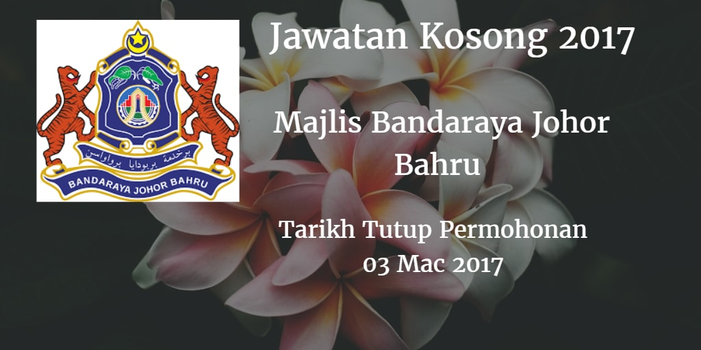 Jawatan Kosong MBJB 03 Mac 2017