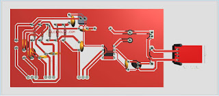 PCB design Mono Power Amplifier LM386 + Tone Control
