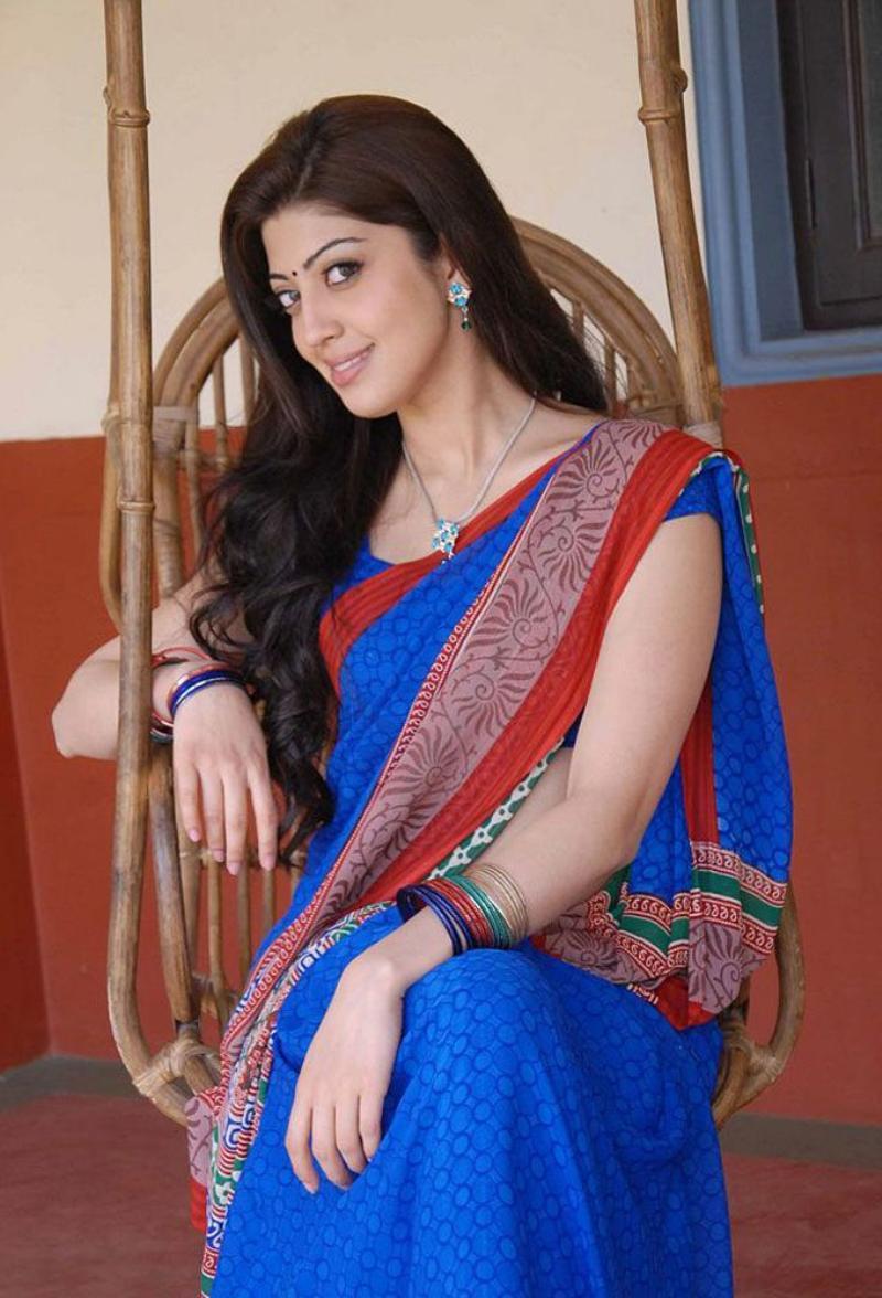 Katrina Kaif Pranitha Blue Saree Pictures-8293