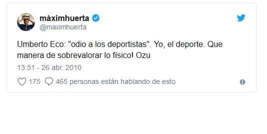Tuits Maxim Huerta