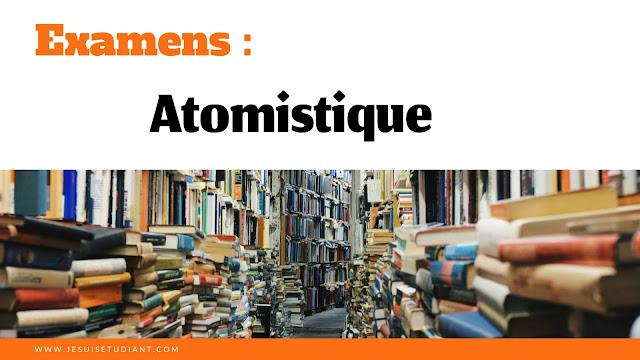 Examens : Atomistique