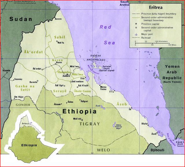 image: Eritrea Political Map