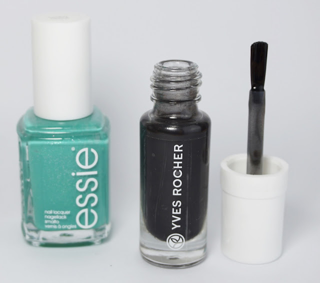 Yves Rocher - Smokey Effekt Top Coat, Essie - Naughty Nautical