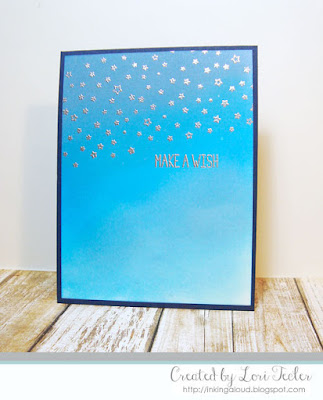 Starry Backdrops Birthday card-designed by Lori Tecler/Inking Aloud-stamps from Lawn Fawn