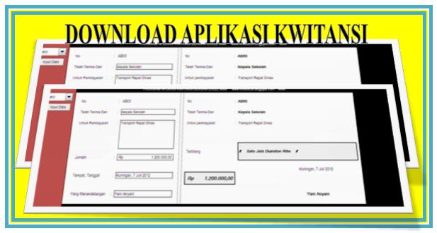 Download Aplikasi Kwitansi Berbasis Microsf Excel Gratis