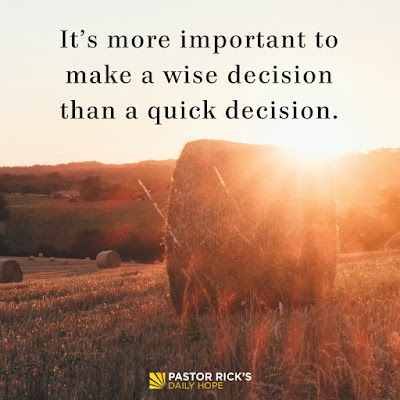 Six Steps for Biblical Decision-Making by Rick Warren