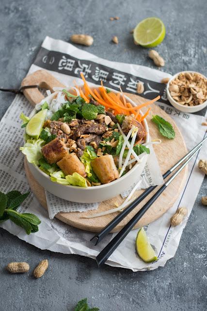 Bo bun, salade vietnamienne