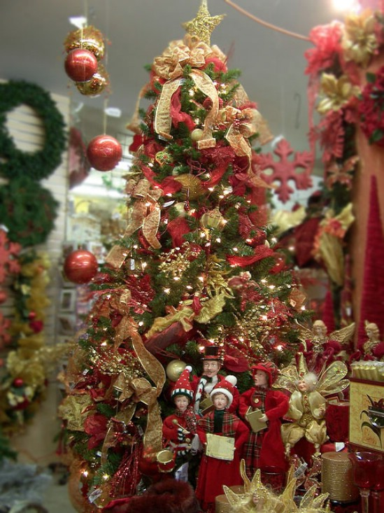 Fun Plannet: red and gold christmas tree