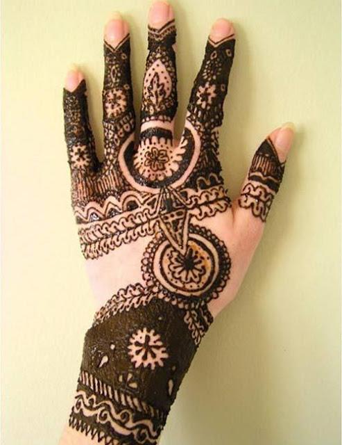henna designs back hand