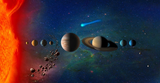 The solar system, illustrated in this artist's conception, contains both large and small objects. Researchers from Duke have proposed a new explanation for why the size diversity exists. Credit: NASA