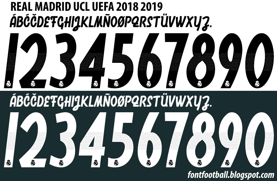 lowest price super specials wholesale Real madrid font 2019 vector