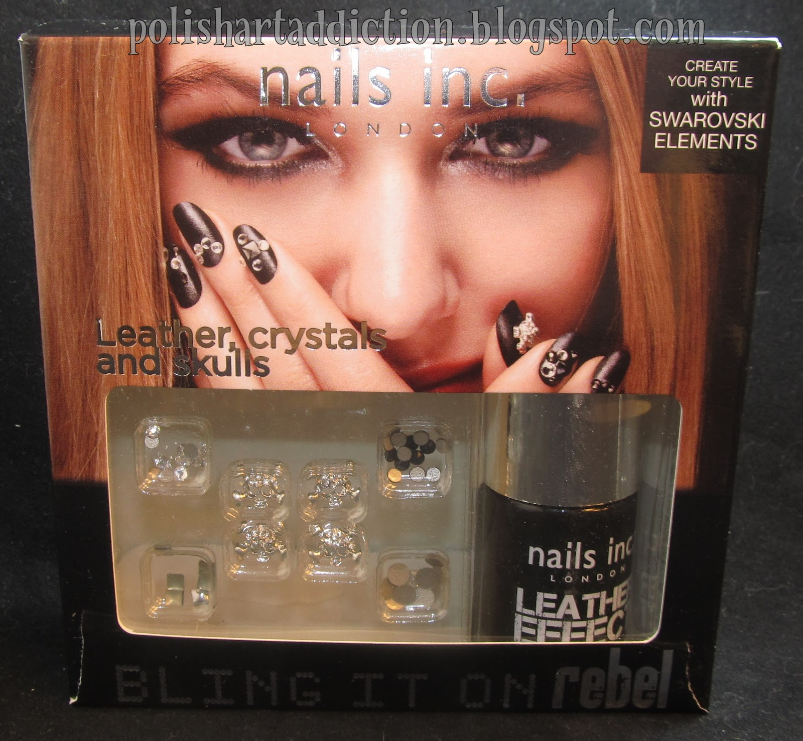 Nails Inc - Leather Effect - Noho (black)