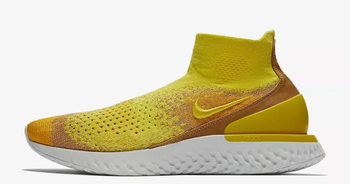 Nike Rise React Flyknit LMTD  Sonic Yellow Amarillo  01470b7fd