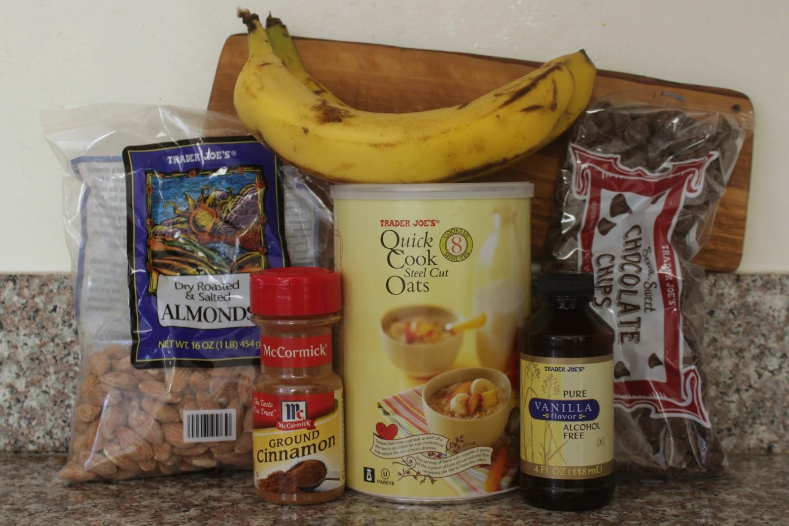 Steel cut oatmeal banana breakfast bites