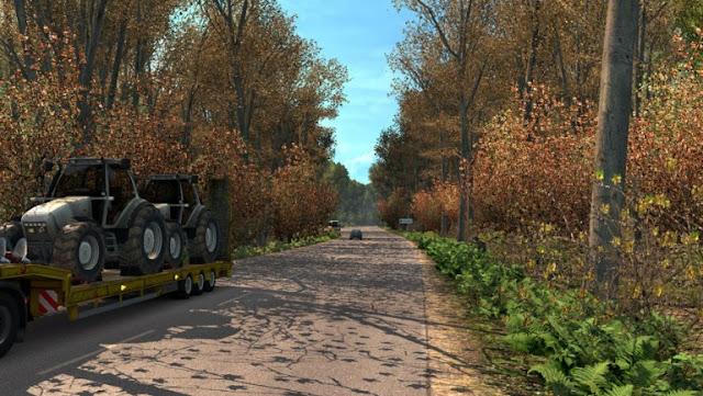 recommendedmodsets2, ets2 mods, euro truck simulator 2 mods, ets2 weather mod, ets2 early autumn, ets2 realistic weather, ets2 1.32, ets2 grimes weather mods, ets2 early autumn mod v5.5 screenshots1
