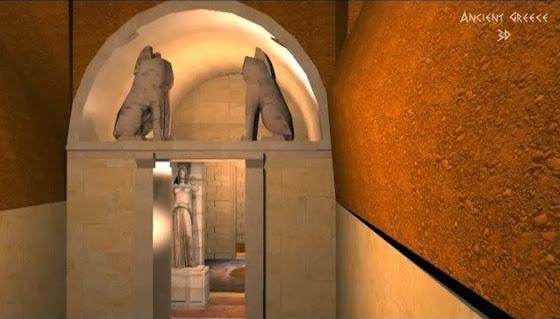 Νέα τρισδιάστατη απεικόνιση του τάφου στην Αμφίπολη [Βίντεο]