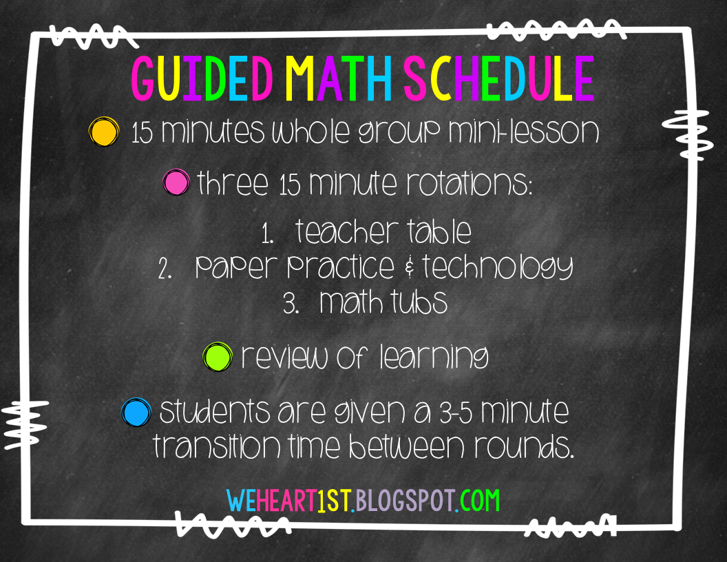 We Heart 1st Guided Math Made Easy