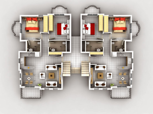 Architecture U0026 Design: 3D Modern House Plans Projects Collection